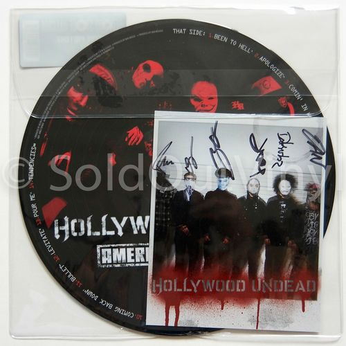 Hollywood Undead - American Tragedy Vinyl LP - Autographed Picture Disc RSD — SoldOutVinyl
