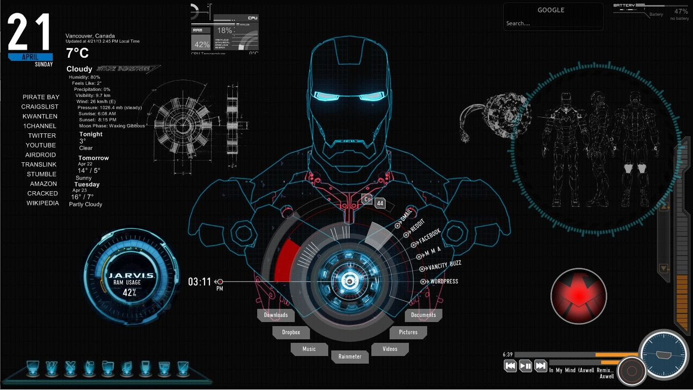 Iron Man Jarvis Live Wallpaper Images & Pictures - Becuo | MARVEL - Iron Man | Pinterest | Iron ...