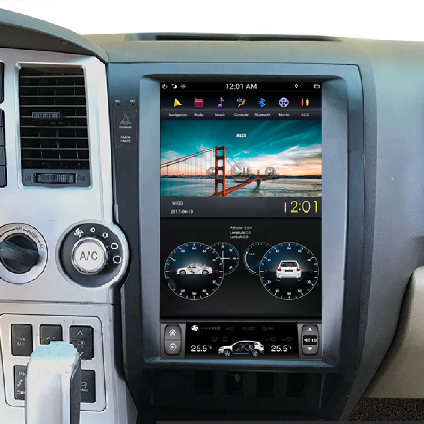12 8 Six Core Universal Double Din Head Unit 100 Rotation Screen And Trinity Auto Solution In 2020 Toyota Tundra Toyota Tundra Accessories 2007 Toyota Tundra