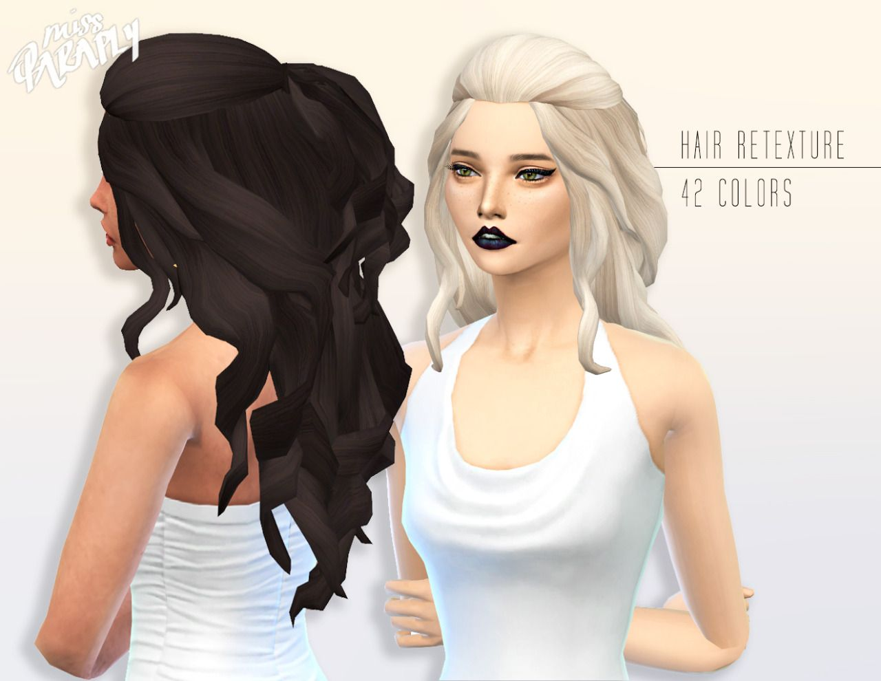 The sims 4 hairstyles cc - Miss Paraply Kiara 24 Romantic Hairstyle Sims 4 Hairs Http