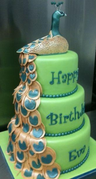 3D Peacock Birthday 3D Peacock Birthday Cake by Tracy Martin