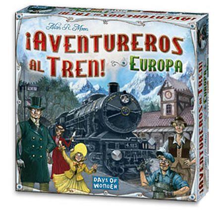 Aventureros al Tren Europa. Caja del juego
