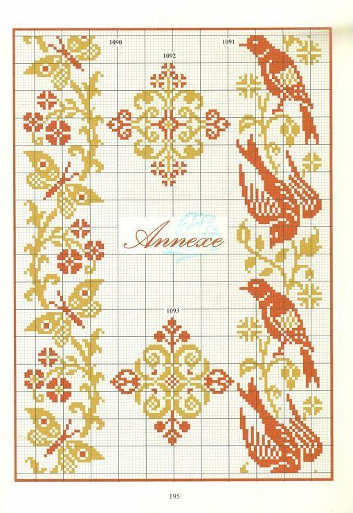 birds and butterflies fair isle chart: | Knitting & Crochet ...