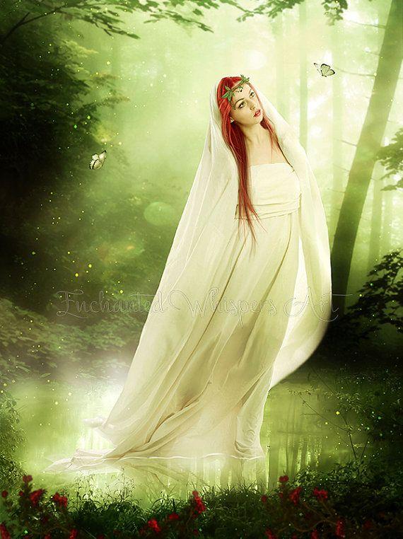 fantasy woman printSpirit of the by EnchantedWhispersArt on Etsy ...