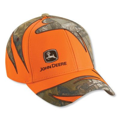 4ec22cf1aa696 John Deere Mens Blaze Orange Realtree X-TRA Camo Hat – GreenToys4u ...
