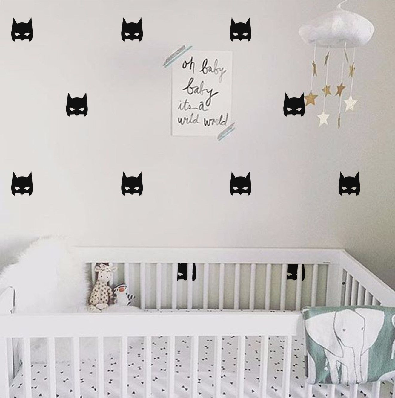 Hero Batman Mask Wall Sticker Wall Decal Removable Home