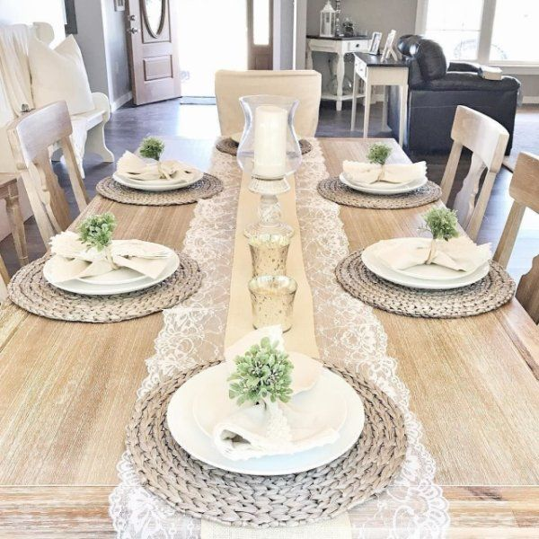 This Is My Table With The Pier 1 Mats Dining Room Table Decor Dinning Table Decor Dining Table Decor