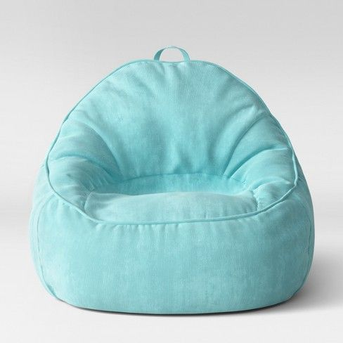 Super Xl Structured Bean Bag Chair Removable Cover Corduroy Blue Pabps2019 Chair Design Images Pabps2019Com