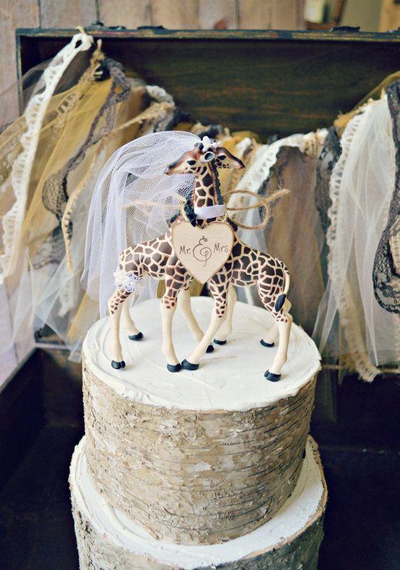 Giraffe Wedding Cake Topper Animal Wedding Cake Topper Giraffe