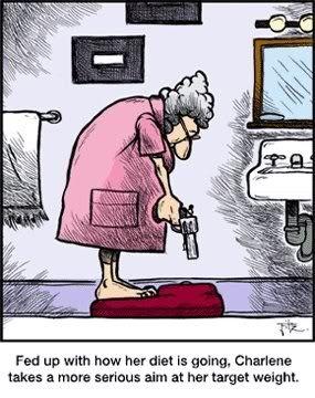 Funny weight loss cartoon.