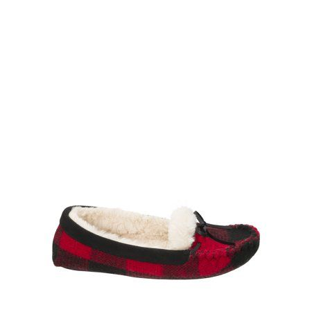 768c6803c64 Dearfoams Women s Mixed Material Moccasin Slippers