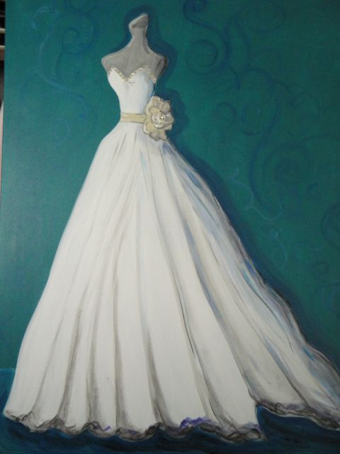 Custom Wedding Painting By Laura Pruett Of Arts And Design