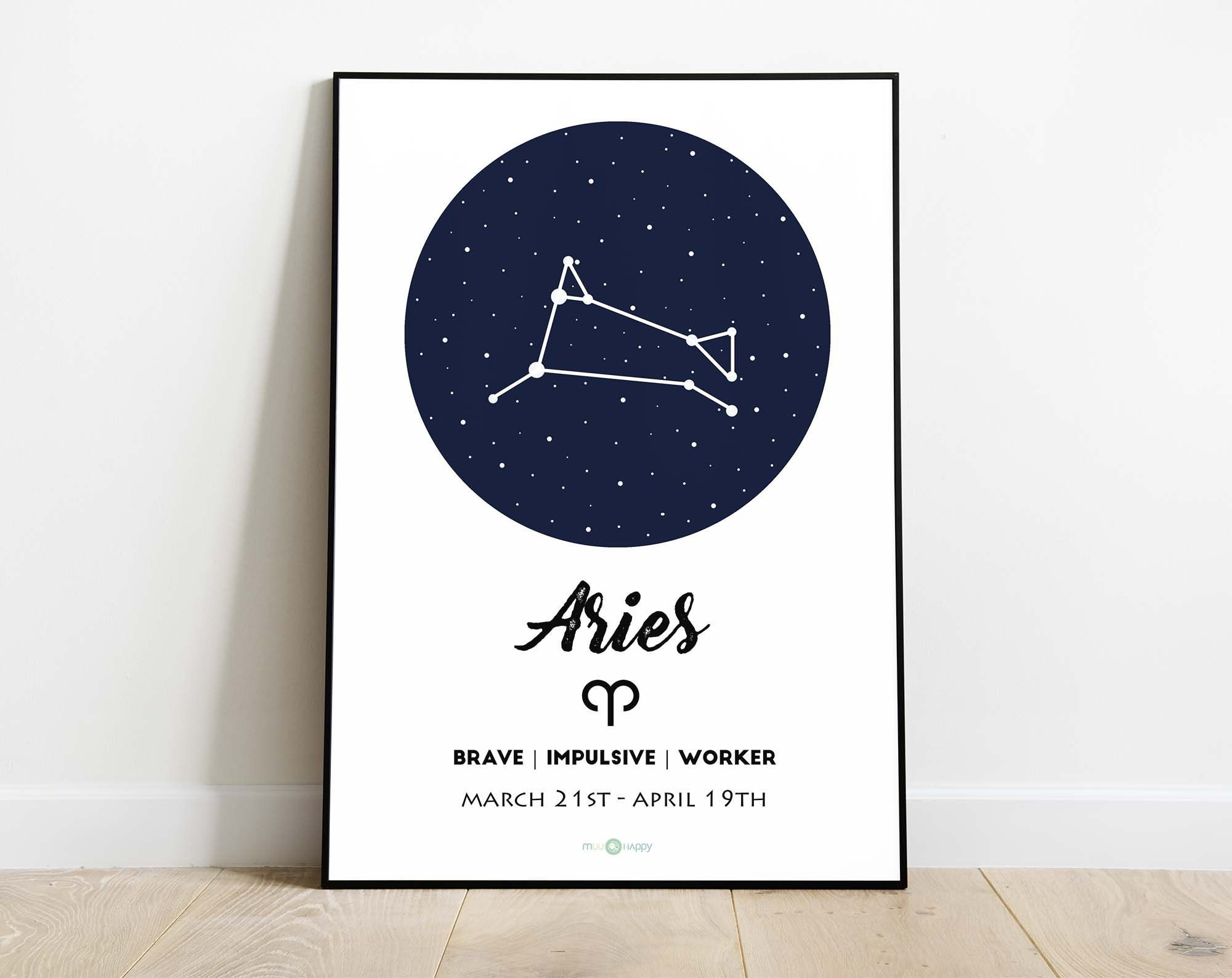 English Aries Constellation Wall Art Aries Zodiac Sign Aries Zodiac Constellation Digital Wall Art Birthday Gift Decoracion De Pared Decoración De Unas Aries