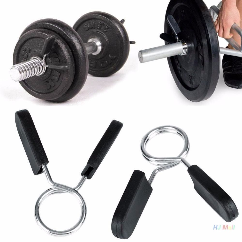 2Pcs Standard Spring Clamp Collar Clips for Weight Bar Dumbbells Gym Home  Fitness Weight Lifting Training 0c41280ca00b