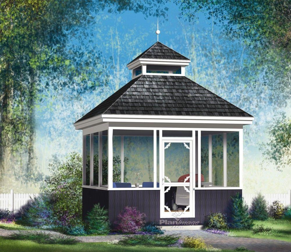 profitez de ce superbe gazebo en bois avec porte et. Black Bedroom Furniture Sets. Home Design Ideas
