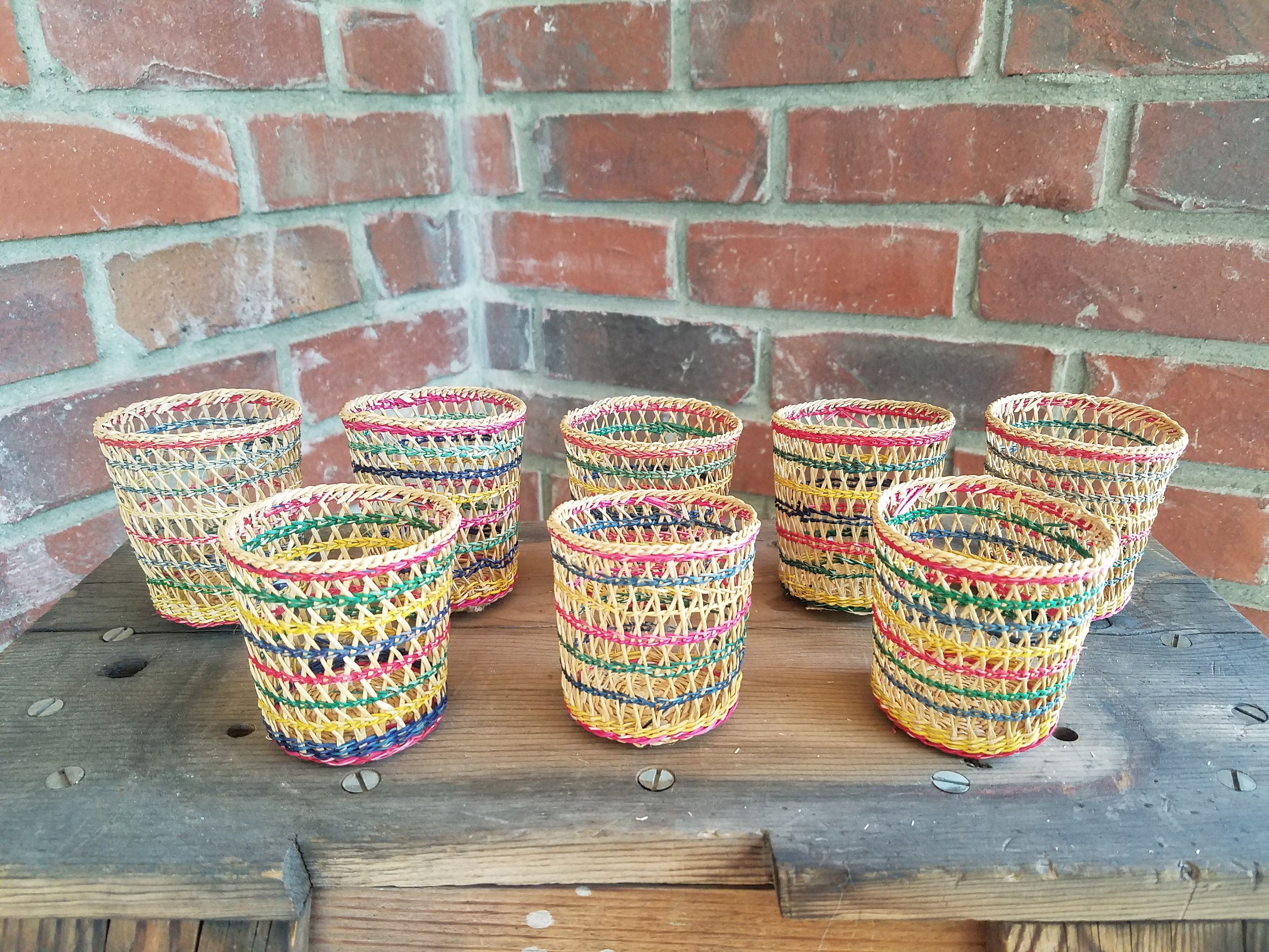 small woven wall hanging woven tray decorative woven wall.htm rattan drink cozies woven glass covers  woven drink holders  boho  rattan drink cozies woven glass covers