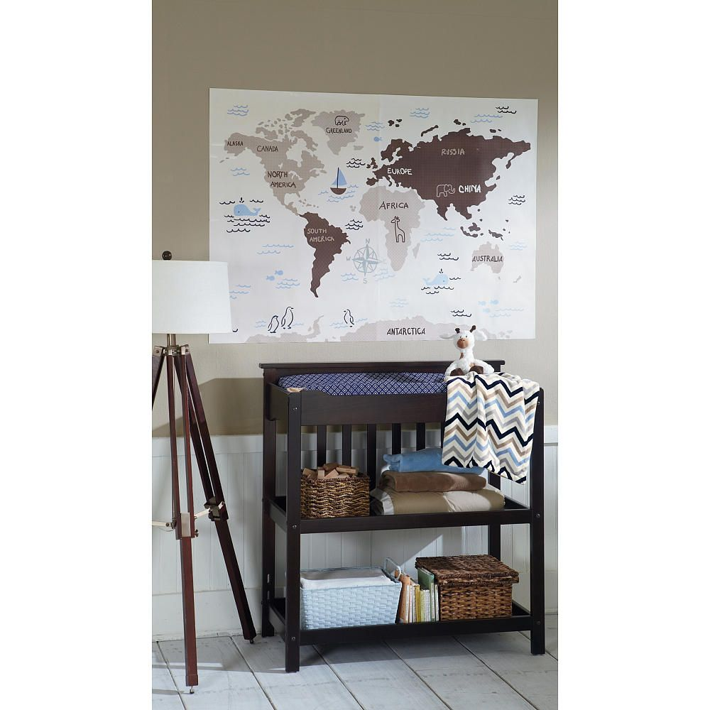 sadie scout world map jumbo wall decals tan crown craft babies