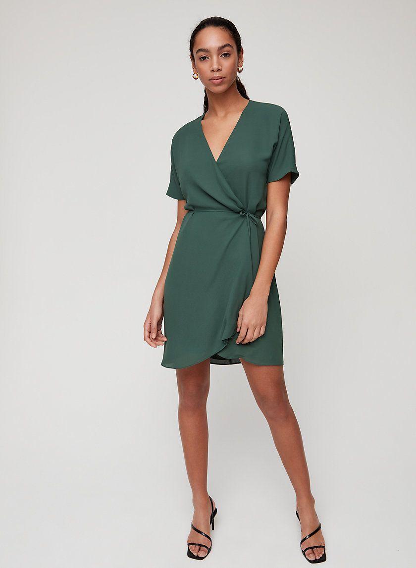 Wallace Dress In 2021 Wrap Dress Short Short Sleeve Mini Dress Cute Simple Dresses [ 1147 x 840 Pixel ]