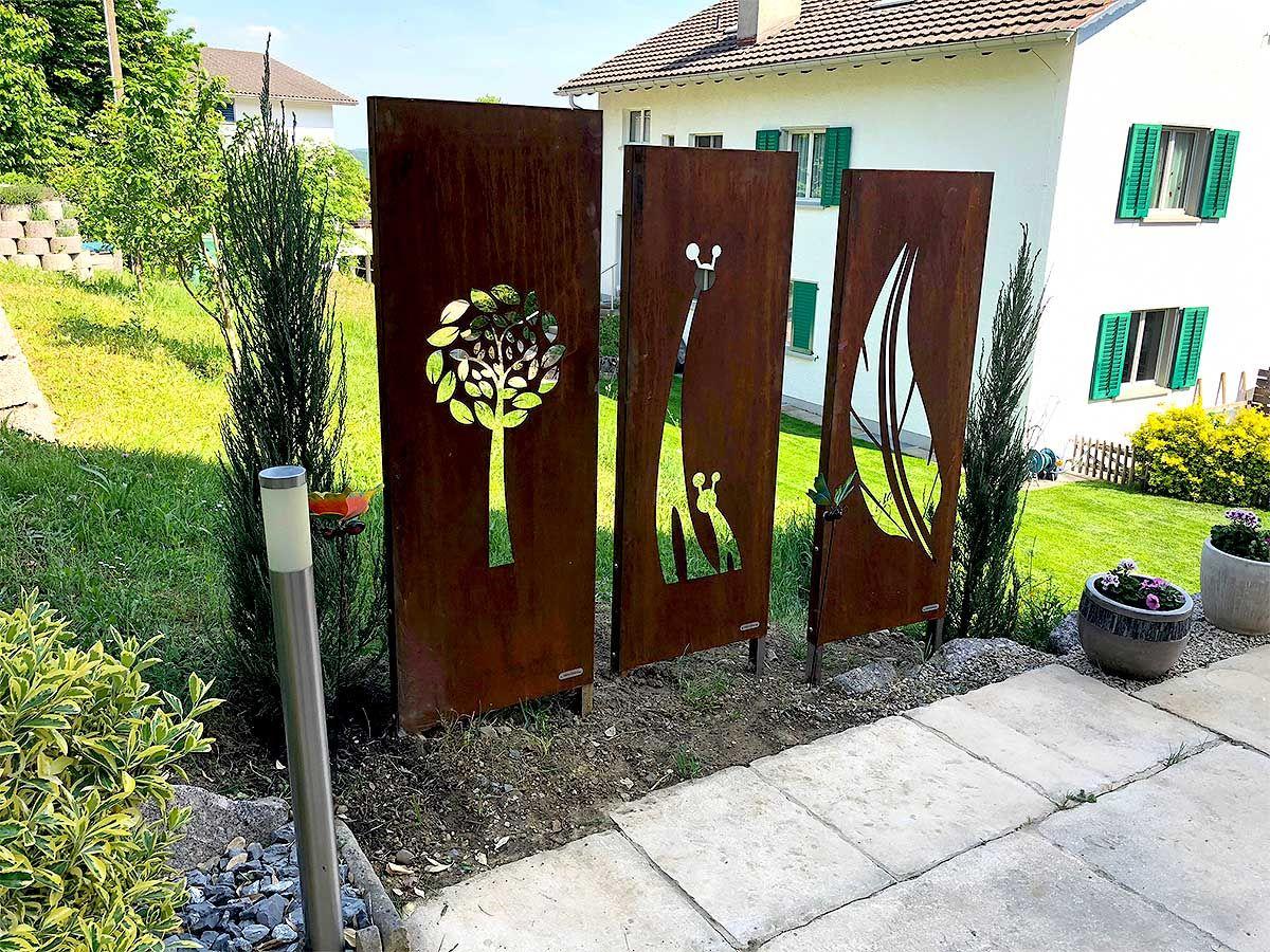 Idee von Ameena Faber auf Garten Sichtschutz