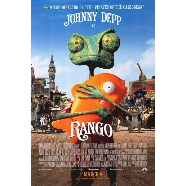 Rango Starring Johnny Depp Mini Movie Poster Com Imagens