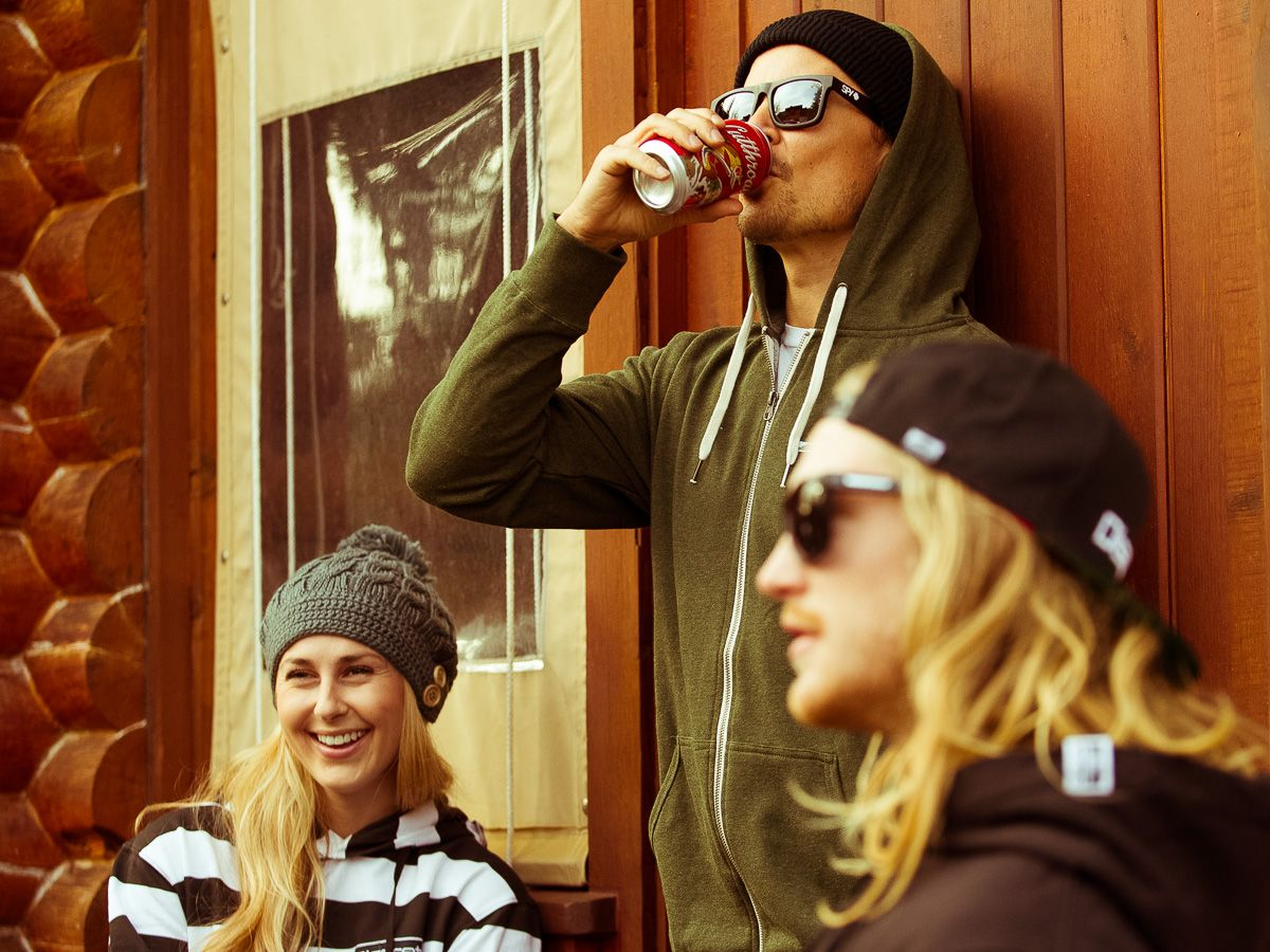 #roadtrip, #cabinlife, #rockdiscrete #discrete, #discreteclothing #womens #beanie #puffies #hoodies #beanies #coldbeer #goodtimes #lookbook Shot by Adam Clark for discreteclothing.com