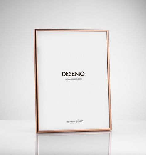 Picture frame Copper (30x40cm) plexi | Copper frame ...