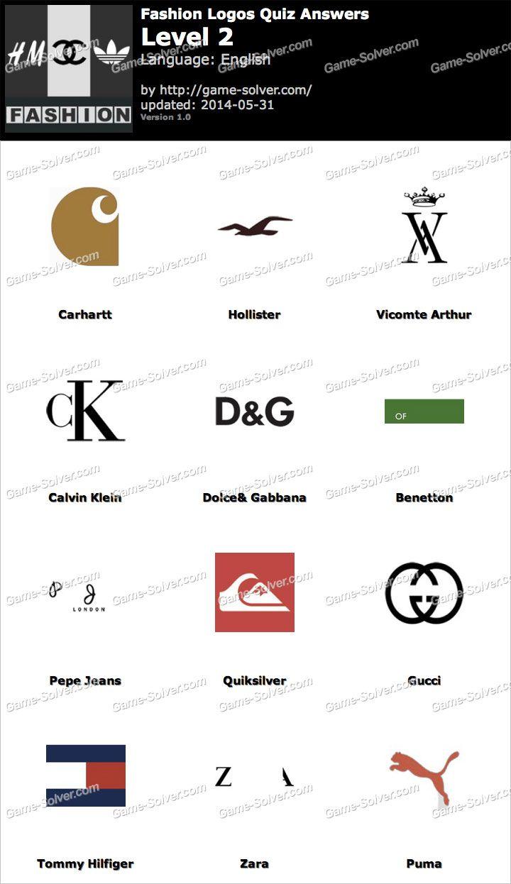 Resultado De Imagen Para Fashion Logos Quiz Fashion Logo Branding Logo Quiz Logo Quiz Answers