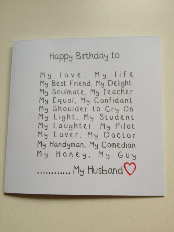 Husband Birthday Card Diy Handmade Husband Birthday Card