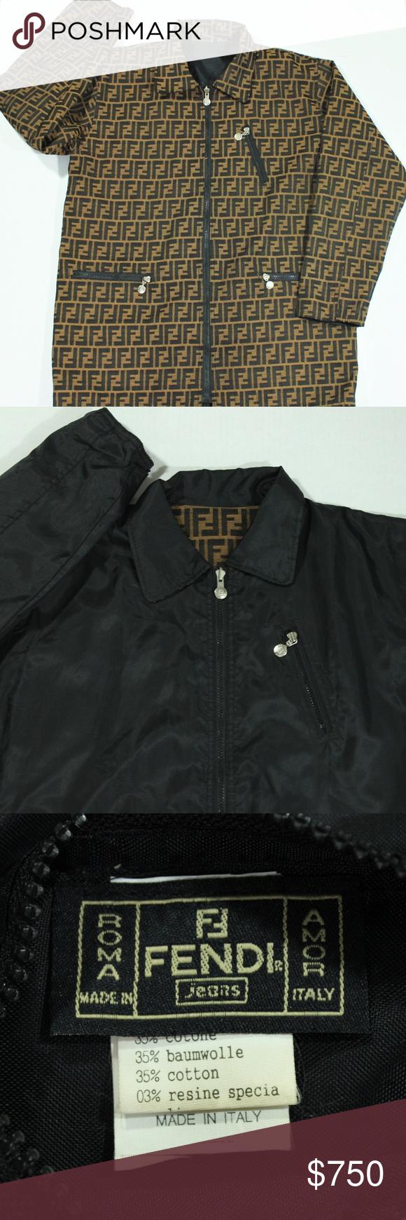 Vintage Fendi Zucca Monogram Reversible Jacket 10 Vintage Authentic Fendi Zucca Monogram Reversible Jacket Men Reversible Jackets Reversible Jacket Men Jackets
