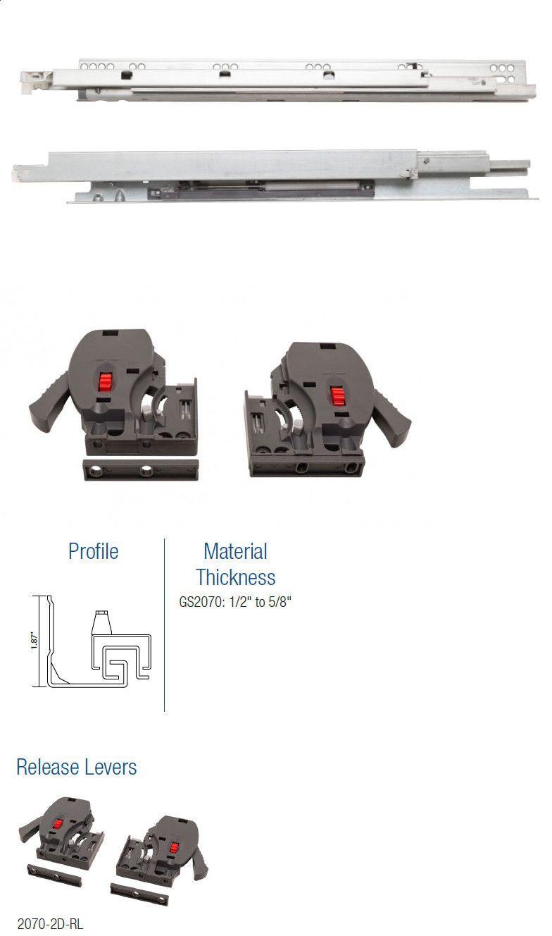 Drawer Slides 134642 Kv Gs2070 Full Extension Undermount Soft Close Drawer Slides 9 12 15 18 21 Buy It Now Only 29 99 On Ebay Drawer Slides Slides