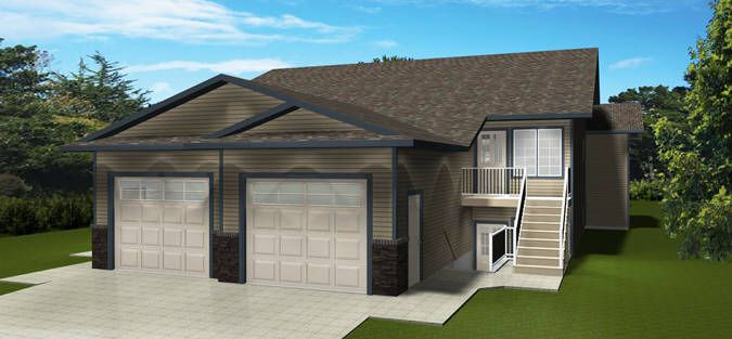 Plan 2014771 Duplex With Basement Legal Suites By Edesignsplans Ca This Design Has Similar Two Bedroom Layouts Up And Duplex Duplex Plans Basement Bedrooms