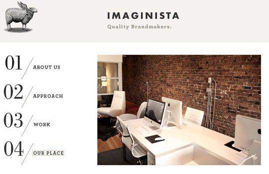 http://www.imaginista.ca/  fixed navi menu