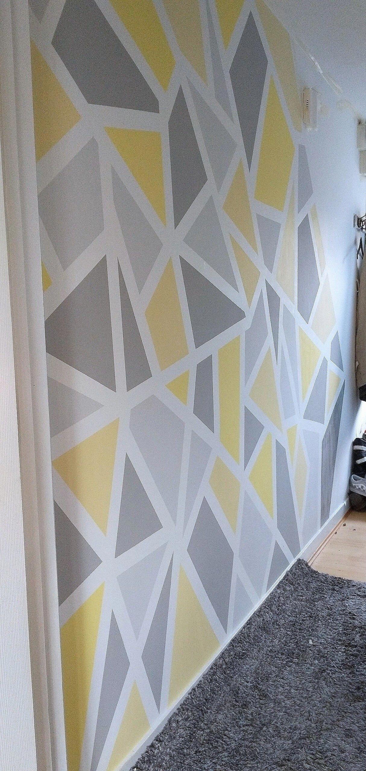 Geometric Wall Bedroom Wall Paint Geometric Wall Paint Diy Wall Painting
