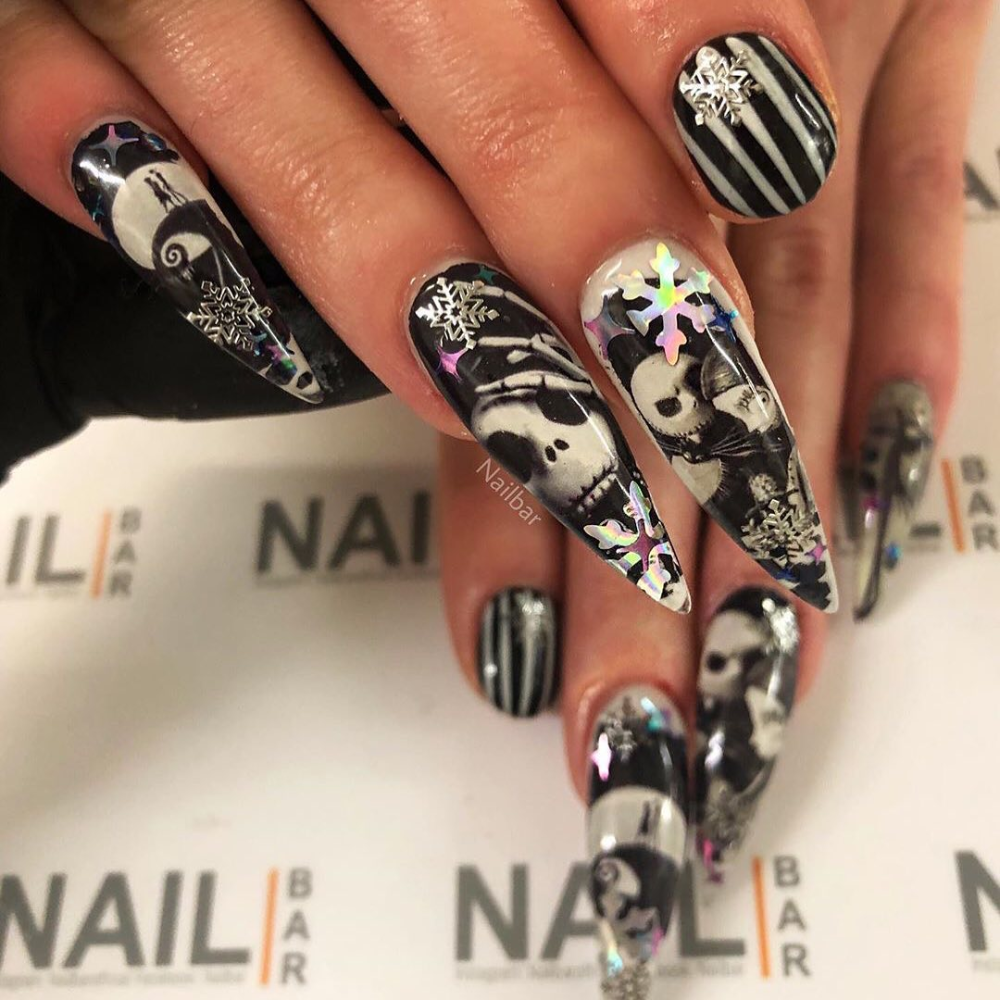 Dippy Cow Nails On Instagram Nailbarofficial Using My Jack Skellington Decals 3 For 2 On All Decals At Nails Nail Designs Pandora Charm Bracelet