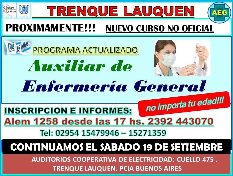 I° CURSO DE ACTUALIZACION EN AUXILIAR ENFERMERIA GENERAL ...
