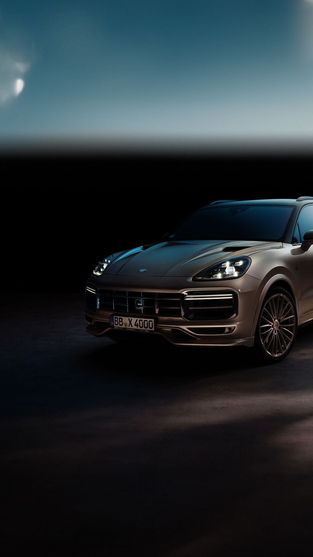 Porsche Cayenne Turbo Techart Dark Off Road 2018 1080x1920