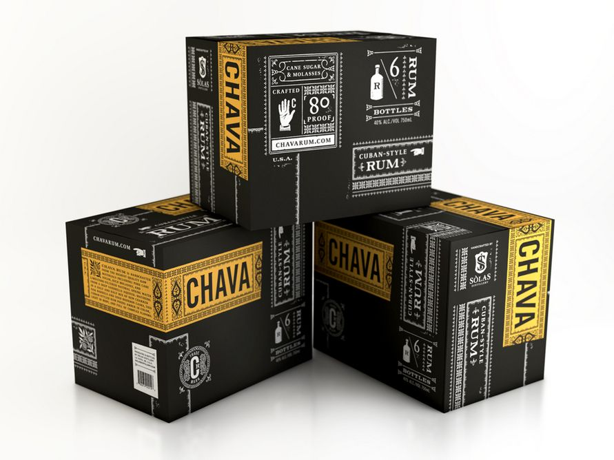 Chava Rum Packaging  by Archrival