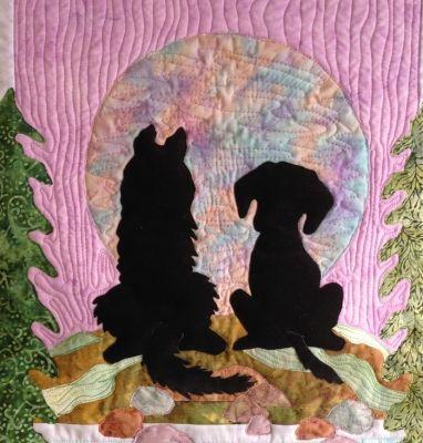 A Quiet Moment Between Friends Quilt Pattern Qfa 101 Landscape Art Quilts Animal Quilts Dog Quilts