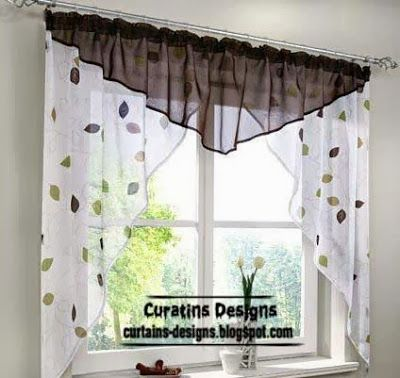 Cortina para la cocina | Imagenes de cortinas, Cortinas para ...