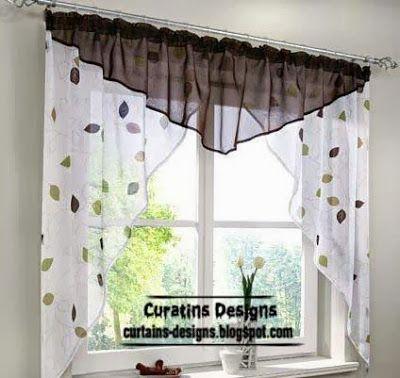 Cortina para la cocina | cortinas p cocina | Curtains, Kitchen ...