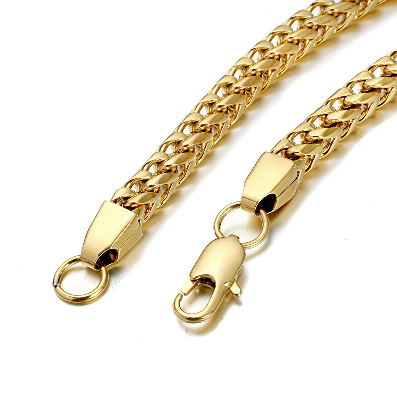 Fibo steel mm wide curb chain bracelet for men women stainless