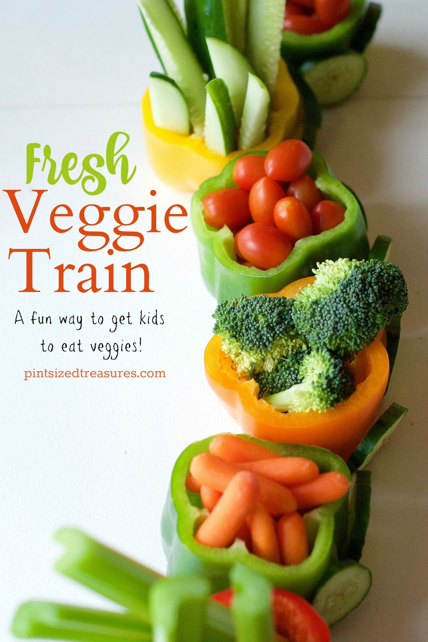 veggie tray made into a train -- what a fun idea & great for lunch at a party!