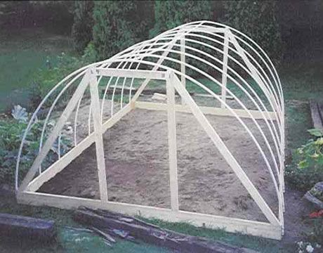 Another hoop house - the plans are in a link at the bottom.  This guys in Maine and has grown garden greens, unheated, year round.