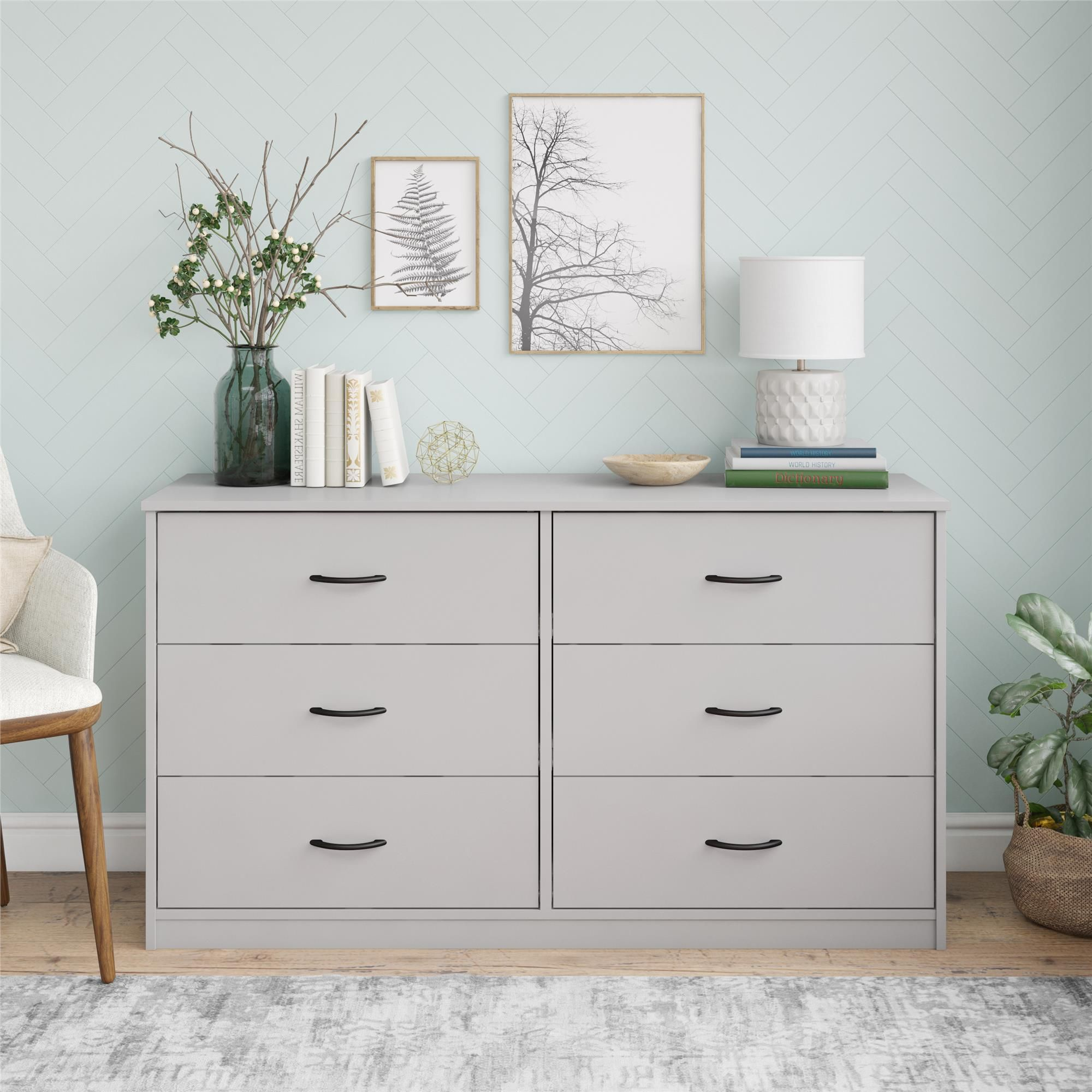 Mainstays Classic 6 Drawer Dresser Dove Gray Walmart Com In 2020 Dresser Drawers 6 Drawer Dresser Living Room Cabinets [ 2000 x 2000 Pixel ]