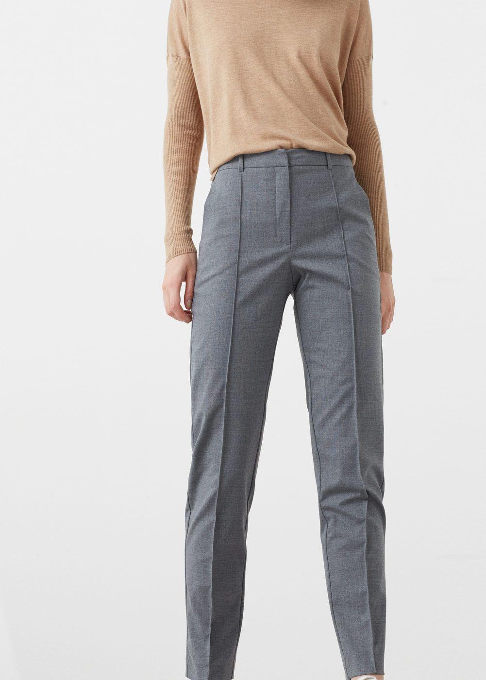 33aff8a5817b Pantalon droit laine