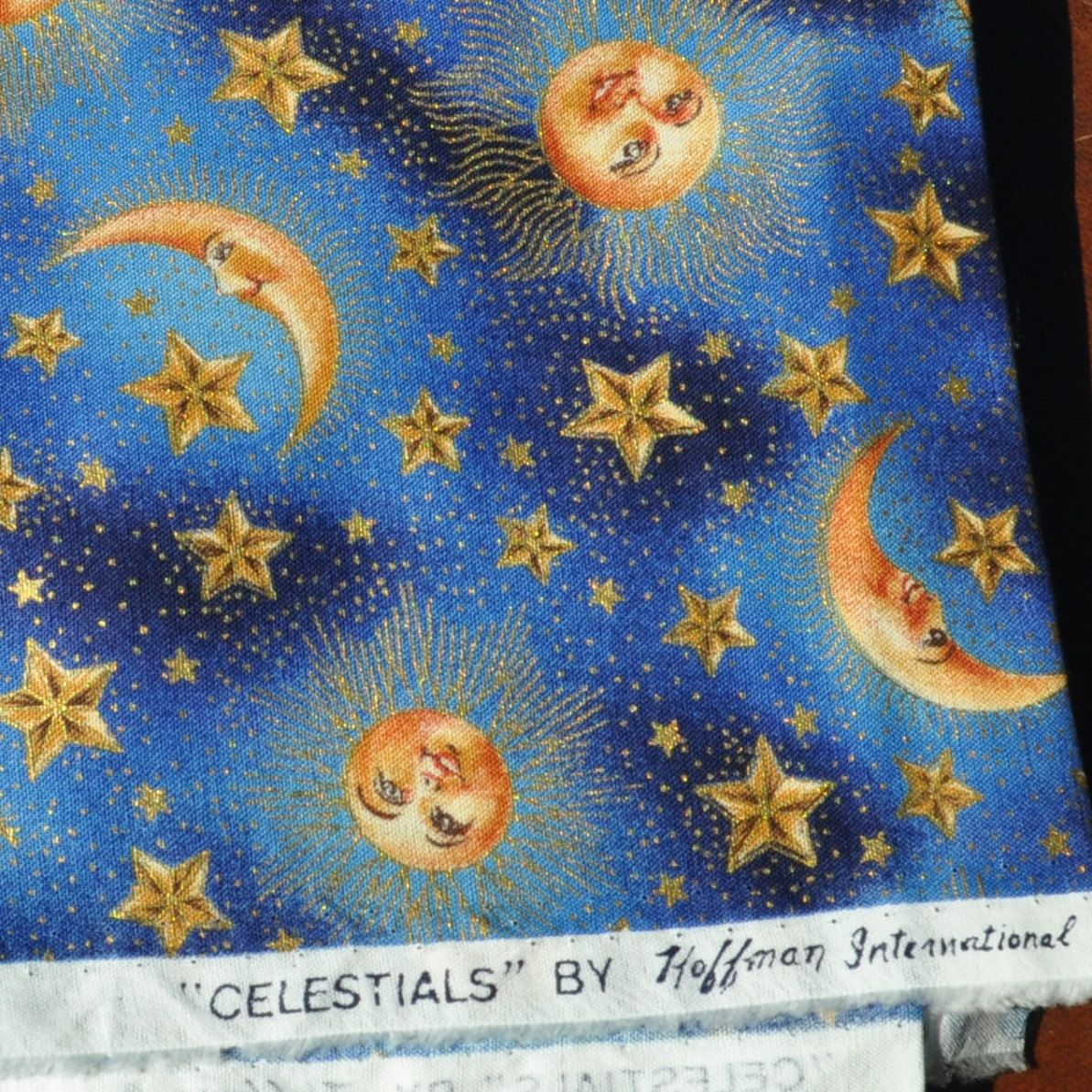 Celestial sun moons stars fabric destash lot of 3 prints 2 34 celestial sun moons stars fabric destash lot of 3 prints 2 34 yards malvernweather Images