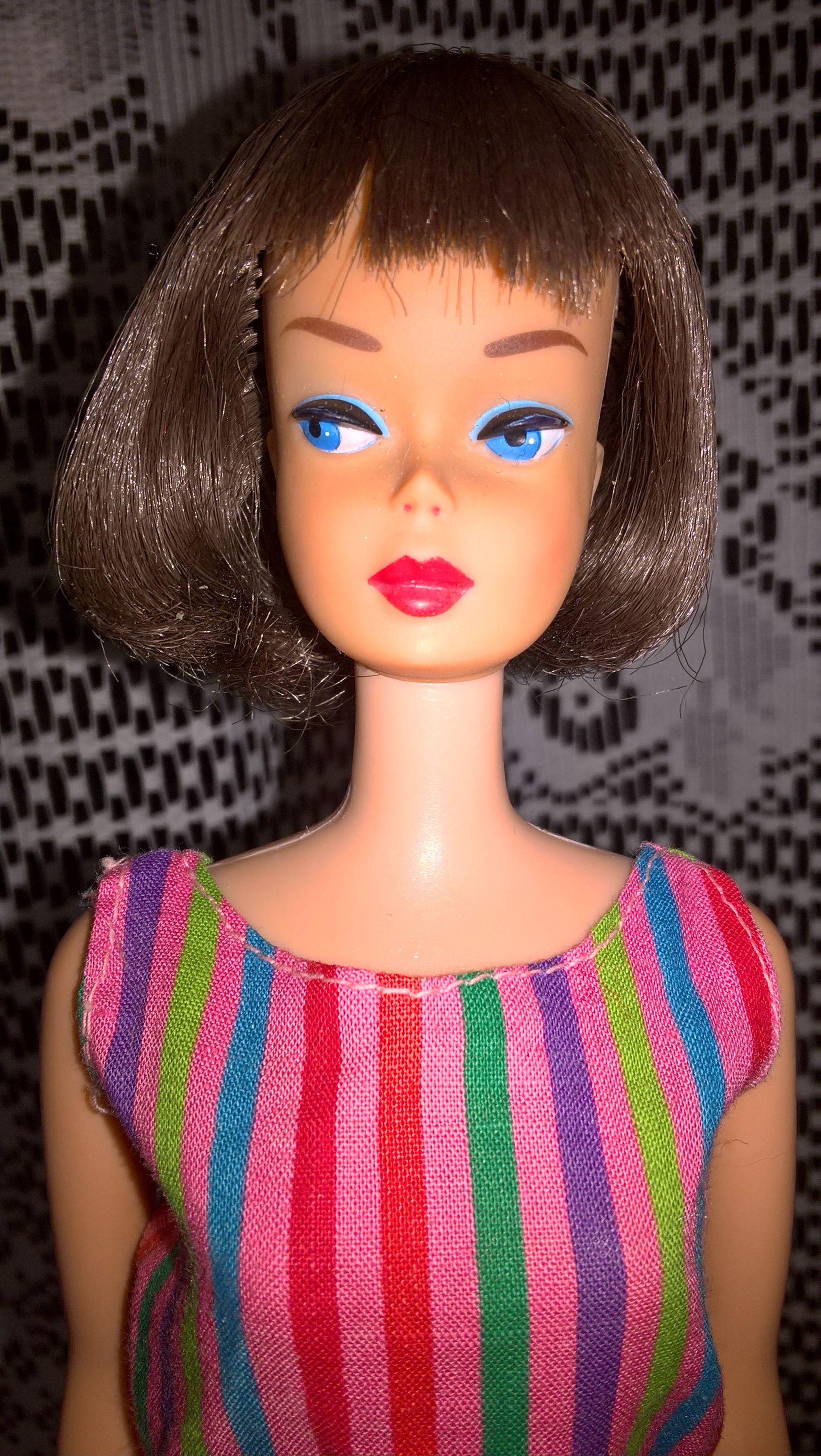 American girl barbie high color long hair silvery