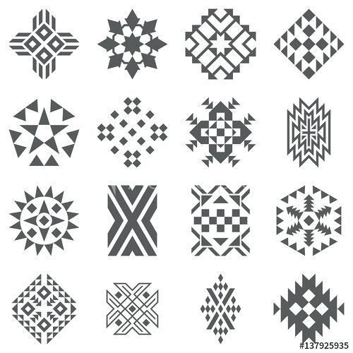 native american beadwork patterns rosettes tribal elements
