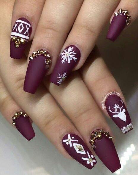 Christmas Acrylic Nails, Winter Acrylic Nails, Cute Christmas Nails, Xmas  Nail Art, - Pin By Jessica Foerschler On Beauty And Fashion Nails, Christmas