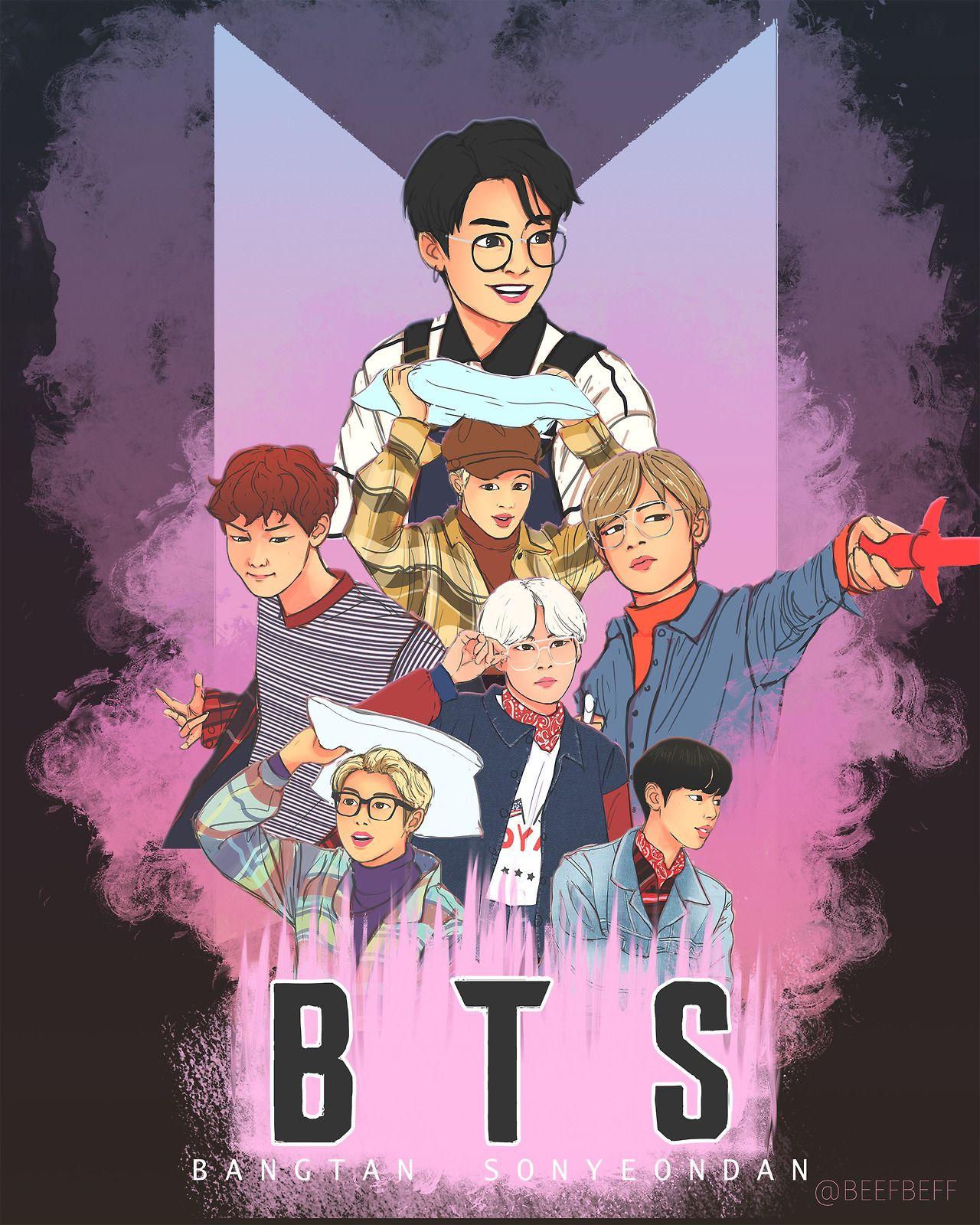 Sketches Tumblr Anime Bts Fanart Bts Wallpaper Bts cartoon tumblr wallpaper